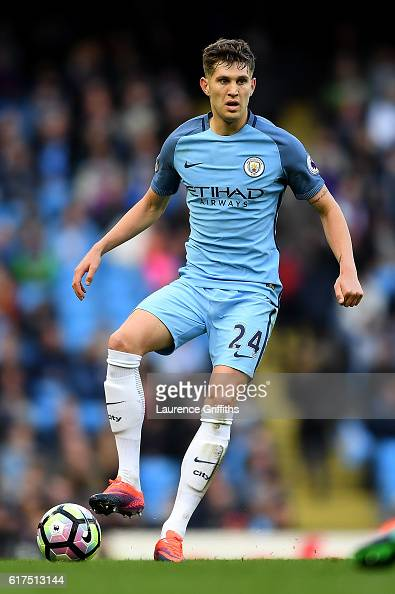 John Stones of Manchester City in action during the Premier League match between Manchester City and Southampton at Etihad Stadium on October 23 2016...