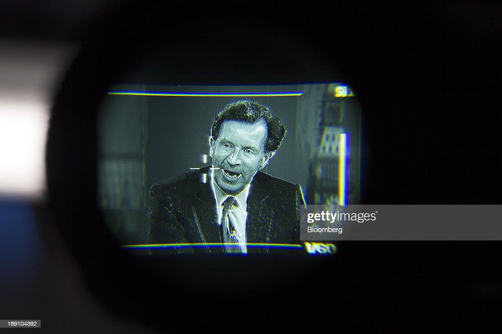 John Studzinski, senior managing director of Blackstone Group LP, is seen through the eyepiece of a TV camera as he speaks during a Bloomberg Television interview in London, U.K., on Monday, May 20, 2013. Blackstone Group LP is considering an initial public offering of its Brixmor Property Group shopping-center unit by year's end, taking advantage of a stock-market rally as it starts to sell real estate assets. Photographer: Simon Dawson/Bloomberg via Getty Images