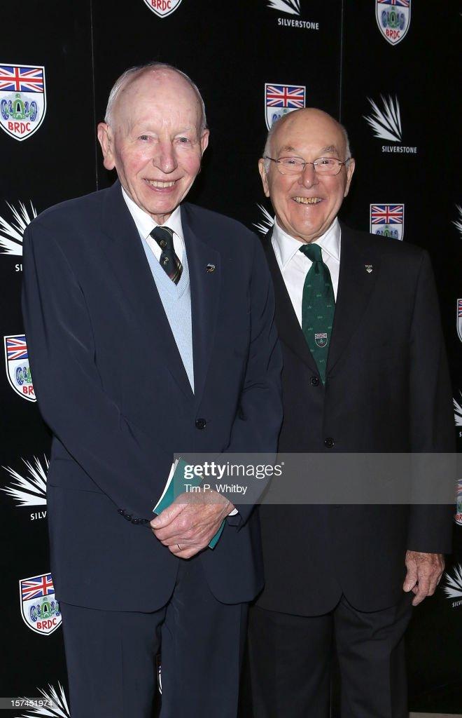 <a gi-track='captionPersonalityLinkClicked' href=/galleries/search?phrase=John+Surtees&family=editorial&specificpeople=221661 ng-click='$event.stopPropagation()'>John Surtees</a> and Murray Walker attend the British Racing Drivers Club awards at Grand Connaught Rooms on December 3, 2012 in London, England.