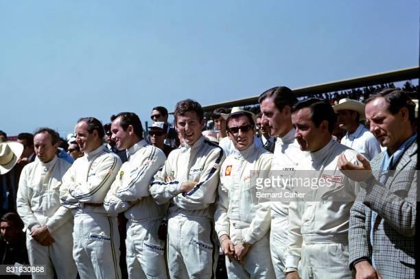 John Surtees Denny Hulme Bob Bondurant Jochen Rindt Jackie Stewart Graham Hill Lorenzo Bandini Innes Ireland Grand Prix of Mexico Autodromo Hermanos...