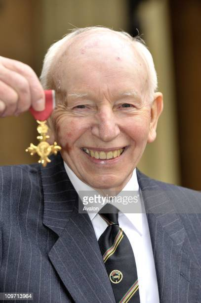 John Surtees former Racing Driver seen at Buckingham Palace after receiving his OBE from the Queen Buckingham Palace London