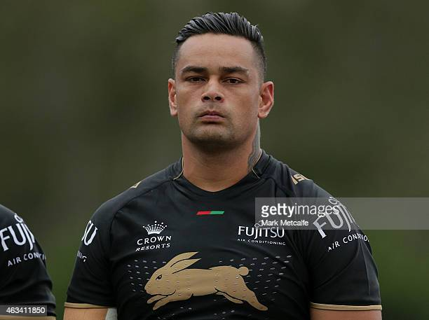 John Sutton of the Rabbitohs looks on before the NRL preseason match between the South Sydney Rabbitohs and the Northern Pride at Redfern Oval on...