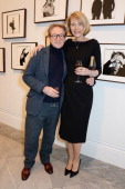 John Swannell and Marianne Swannell attend a private view of Bailey's Stardust a exhibition of images by David Bailey supported by Hugo Boss at the...