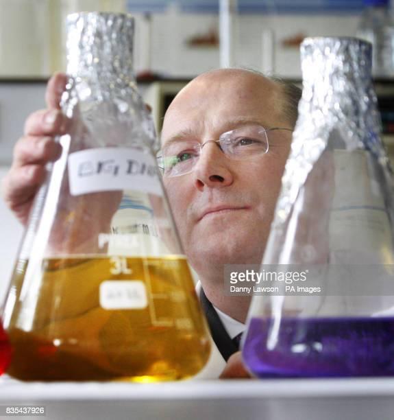 John Swinney during the opening of vaccine manufacturing facility Big DNA near Edinburgh
