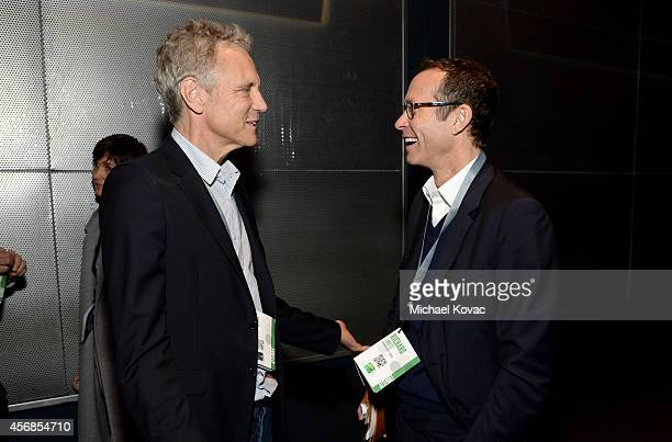 John Sykes and CAA Motion Picture Literary President/Agent Richard Lovett attend the Vanity Fair New Establishment Summit at Yerba Buena Center for...