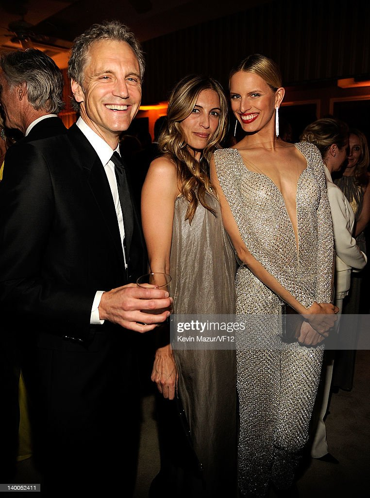 John Sykes and Karolina Kurkova attend the 2012 Vanity Fair Oscar Party Hosted By Graydon Carter at Sunset Tower on February 26 2012 in West...