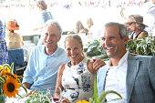 John Sykes Katie Couric and John Molner attend the 2015 Hamptons Classic Grand Prix on August 30 2015 in Bridgehampton New York