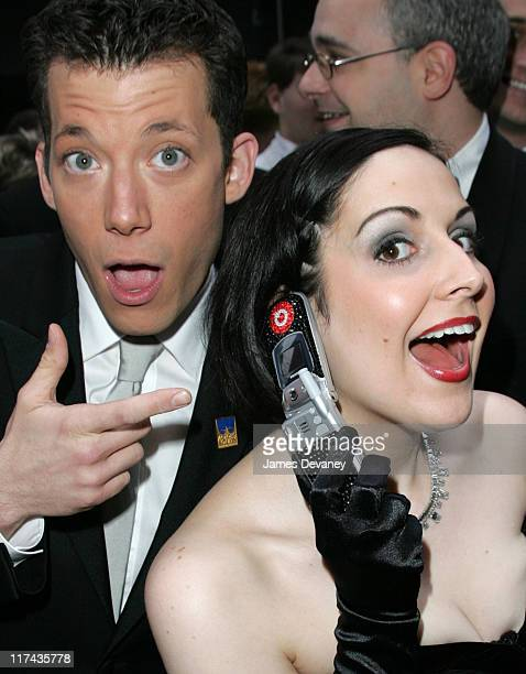 John Tartaglia and Stephanie D'Abruzzo during 58th Annual Tony Awards Sprint at the Red Carpet at Radio City Music Hall in New York City New York...