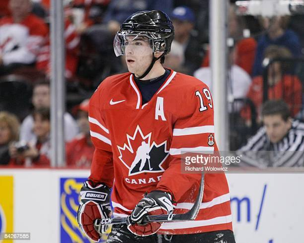 John Tavares of can skates during the game against Team Kazakhstan at the IIHF World Junior Championships at Scotiabank Place on December 28 2008 in...
