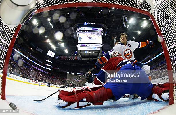John Tavares of the New York Islanders and Team Toews shoots against Carey Price of the Montreal Canadiens and Team Foligno during the 2015 Honda NHL...