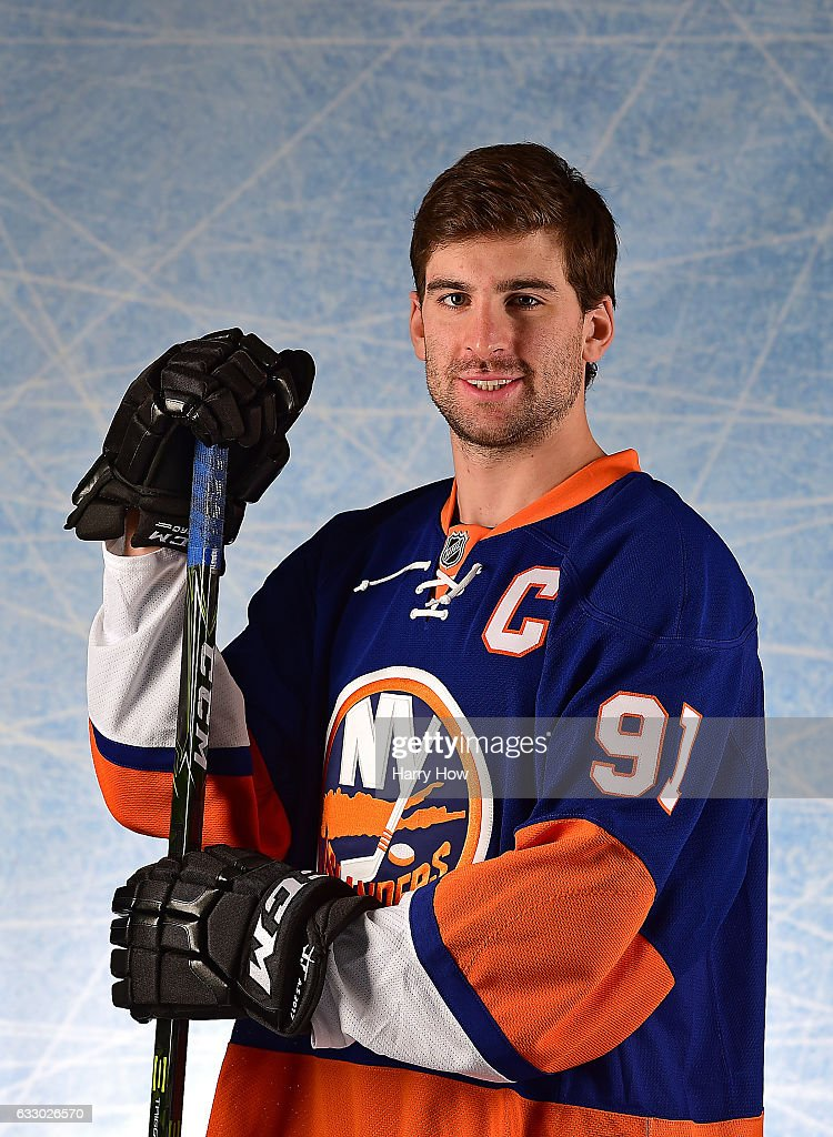 John Tavares #91 of the New York Islanders poses for a portrait prior to the 2017 Honda NHL All-Star Game at Staples Center on January 29, 2017 in Los Angeles, California.