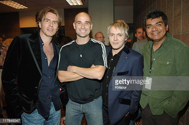 John Taylor Andre Agassi Nick Rhodes and George Lopez