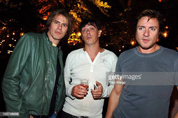 John Taylor Donovan Leitch and Simon Le Bon during Imperia Vodka American Launch Party at Liberty Island in New York City New York United States