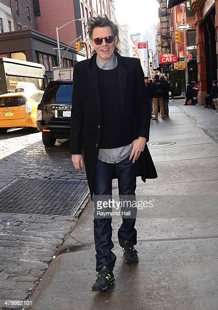 John Taylor is seen walking in Soho on March 21 2014 in New York City
