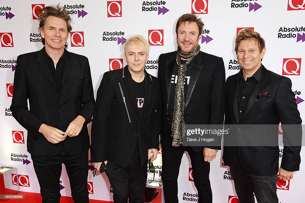 John Taylor Nick Rhodes Simon Le Bon and Roger Taylor of Duran Duran attend the Q Awards at The Grosvenor House Hotel on October 19 2015 in London...