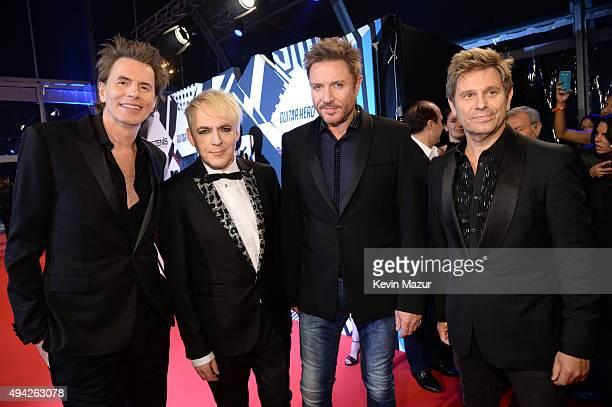 John Taylor Nick Rhodes Simon Le Bon Roger Taylor of Duran Duran attend the MTV EMA's 2015 at Mediolanum Forum on October 25 2015 in Milan Italy