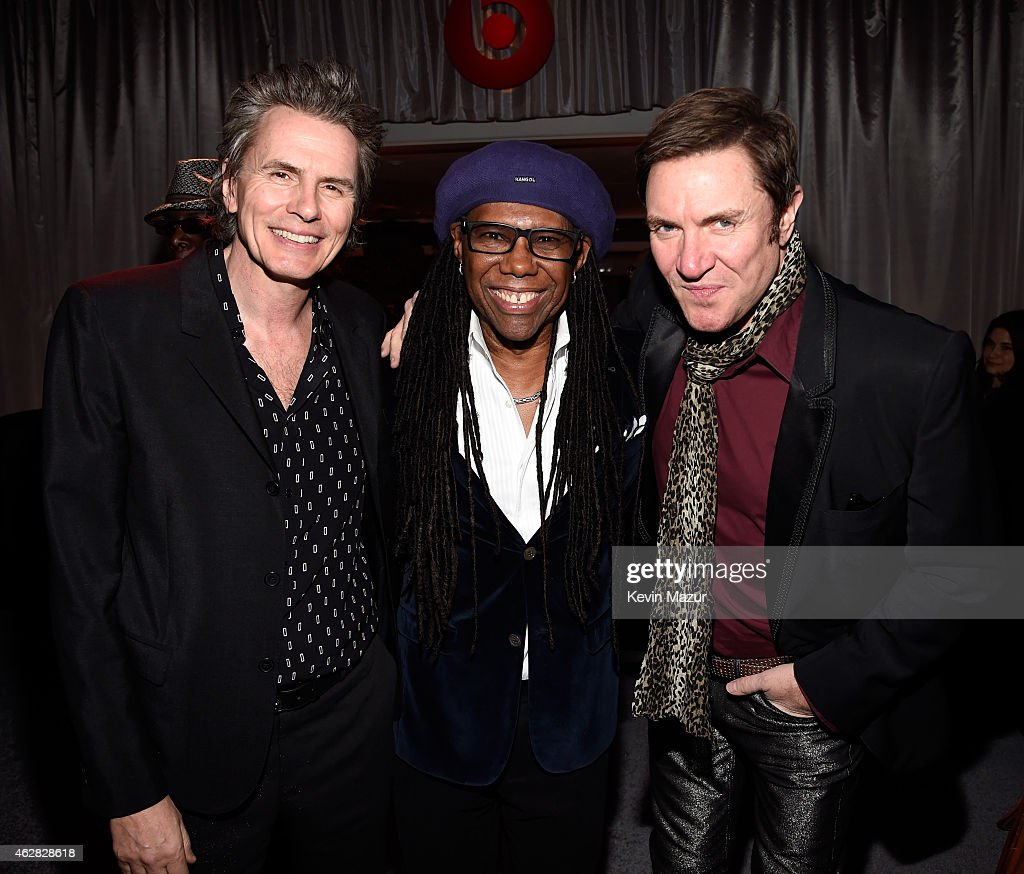 John Taylor Nile Rodgers and Simon Le Bon attend event honoring Nile Rodgers for his Recording Academy producers award at Private Residence on...
