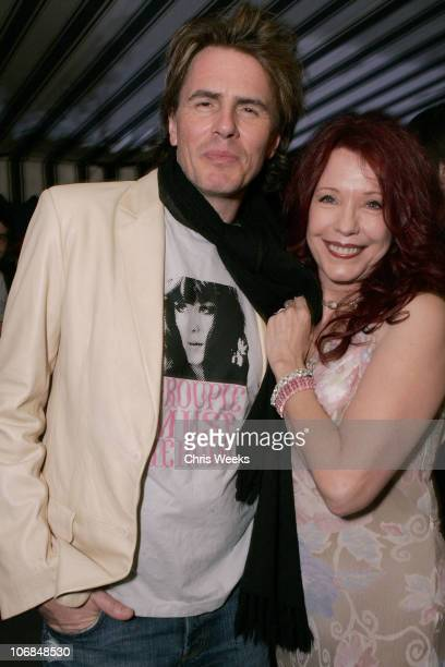 John Taylor of Duran Duran and Pamela Des Barres during Leslie Gardner's Smashing Grandpa Launches New Designs Inspired by 'I'm with the Band...