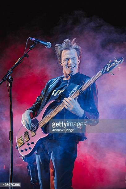 John Taylor of Duran Duran performs on stage at Manchester Arena on November 27 2015 in Manchester England