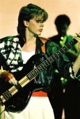 John Taylor of Duran Duran performs on stage at Wembley Arena on December 20th 1983 in London England