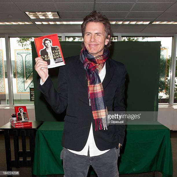 John Taylor of Duran Duran promotes his book 'In The Pleasure Groove Love Death And Duran Duran' at Barnes Noble Citigroup Center on October 16 2012...