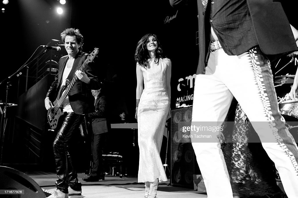 John Taylor (L) performs during the show for amfAR's 20th Annual Cinema Against AIDS at Hotel du Cap-Eden-Roc on May 23, 2013 in Cap d'Antibes, France.