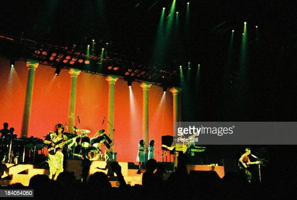 John Taylor Roger Taylor Simon le Bon and Andy Taylor of Duran Duran perform on stage at Wembley Arena on December 20th 1983 in London England