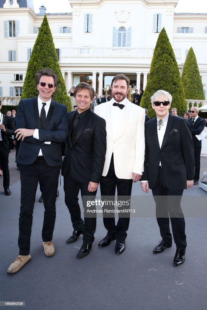 <a gi-track='captionPersonalityLinkClicked' href=/galleries/search?phrase=John+Taylor+-+Musician+-+Duran+Duran&family=editorial&specificpeople=203049 ng-click='$event.stopPropagation()'>John Taylor</a>, Roger Taylor, <a gi-track='captionPersonalityLinkClicked' href=/galleries/search?phrase=Simon+Le+Bon&family=editorial&specificpeople=160698 ng-click='$event.stopPropagation()'>Simon Le Bon</a> and <a gi-track='captionPersonalityLinkClicked' href=/galleries/search?phrase=Nick+Rhodes&family=editorial&specificpeople=206732 ng-click='$event.stopPropagation()'>Nick Rhodes</a> of Duran Duran attend amfAR's 20th Annual Cinema Against AIDS during The 66th Annual Cannes Film Festival at Hotel du Cap-Eden-Roc on May 23, 2013 in Cap d'Antibes, France.