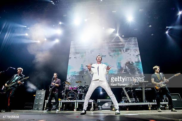 John Taylor Simon Le Bon and Dominic Brown of Duran Duran perform on stage during day 3 of Sonar Music Festival on June 20 2015 in Barcelona Spain