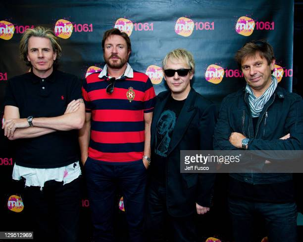 John Taylor Simon Le Bon Nick Rhodes and Roger Taylor of Duran Duran pose at the WISX Performance Theater on October 17 2011 in Bala Cynwyd...