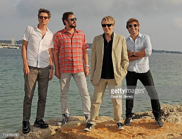 John Taylor Simon Le Bon Nick Rhodes and Roger Taylor of Duran Duranpose for a photocall at the 64th Annual Cannes Film Festival on May 13 2011 in...
