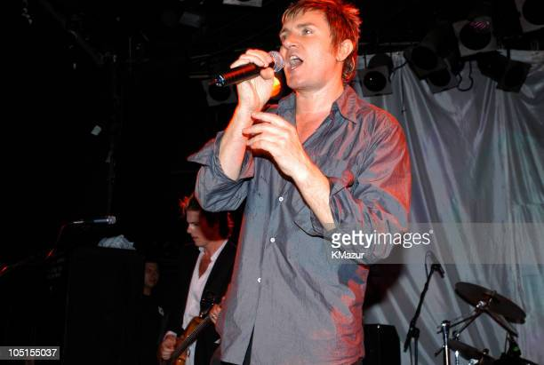 John Taylor Simon Le Bon perform at The Roxy at the Duran Duran show presented by DKNY Jeans and The Fader