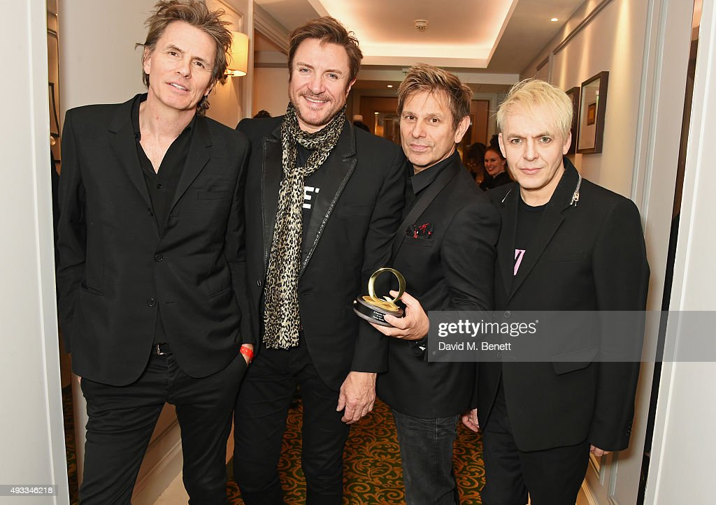 John Taylor Simon Le Bon Roger Taylor and Nick Rhodes of Duran Duran winners of the Q Icon award pose at The Q Awards at The Grosvenor House Hotel on...