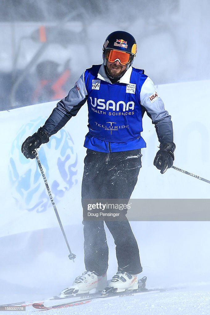 John Teller of the USA looks on as he finished seventh in the Audi FIS Ski Cross World Cup on December 12, 2012 in Telluride, Colorado.