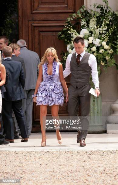 John Terry and wife Toni outside the Royal Hospital where England and Chelsea FC footballer Joe Cole and Carly Zucker are due to get married today