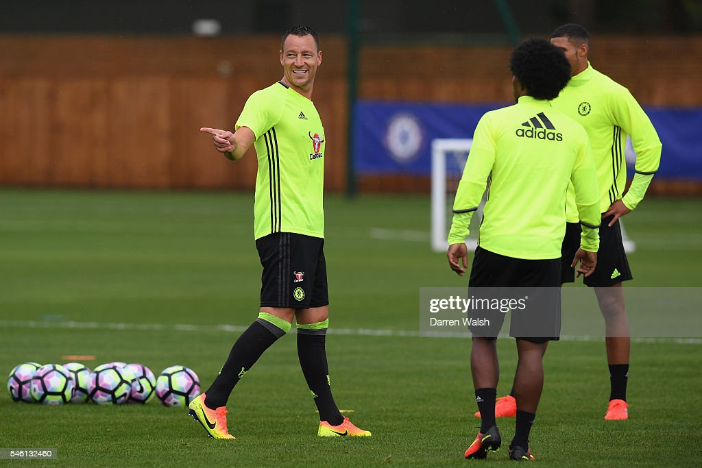 John Terry at Chelsea Training Ground on July 11 2016 in Cobham England
