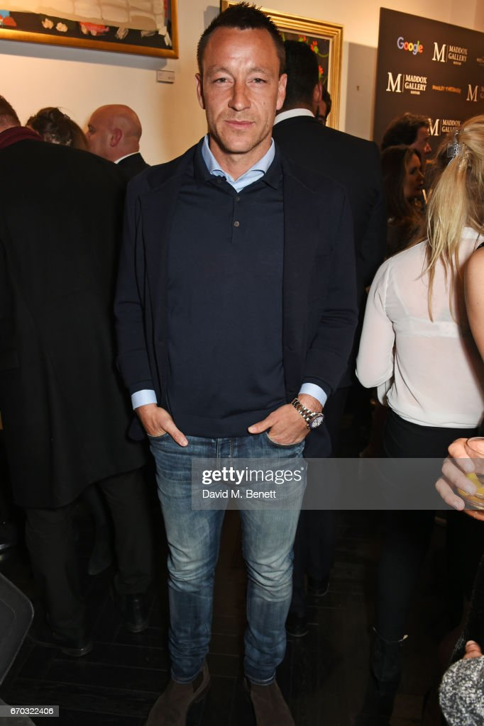 John Terry attends a VIP private view for New York artist Bradley Theodore at Maddox Gallery on April 19, 2017 in London, England.