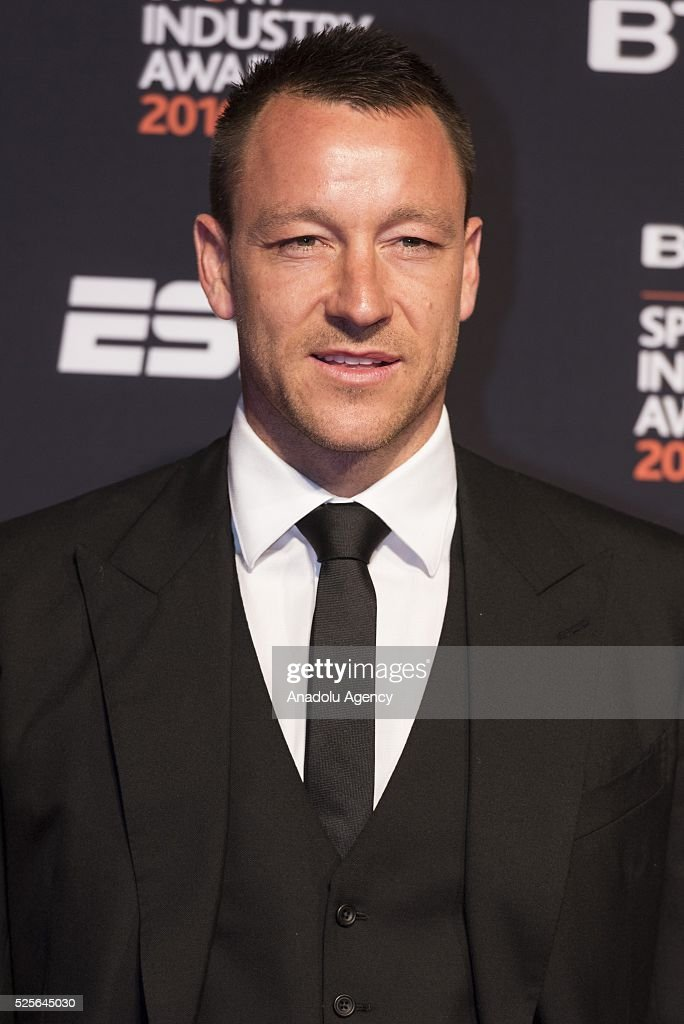 John Terry attends the BT Sport Industry Awards 2016 in London, United Kingdom on April 28, 2016.