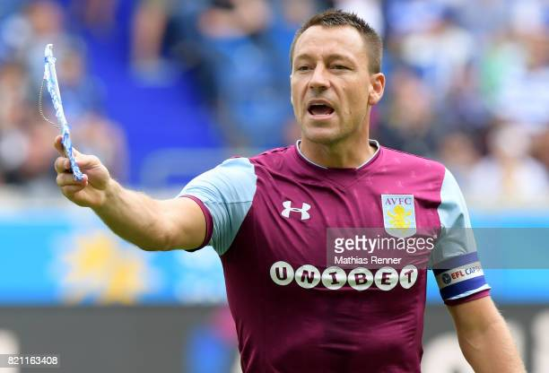 John Terry of Aston Villa before the game between Aston Villa and the MSV Duisburg on July 23 2017 in Duisburg Germany