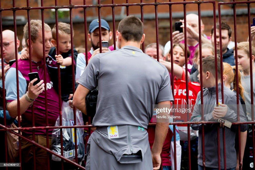 John Terry of Aston Villa before the pre season match between Aston Villa and Watford at Villa Park on July 29 , 2017 in Birmingham, England.