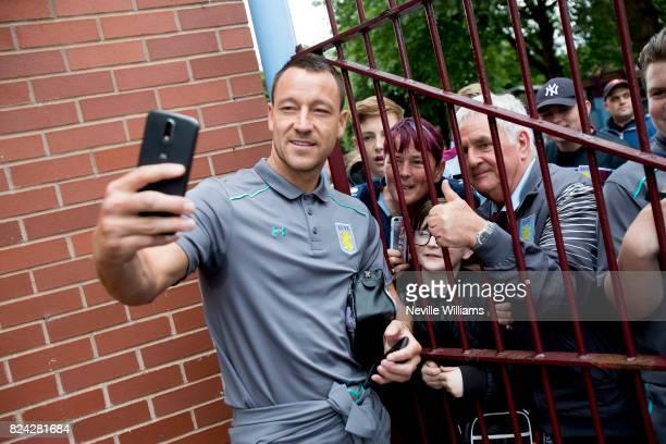 John Terry of Aston Villa before the pre season match between Aston Villa and Watford at Villa Park on July 29 2017 in Birmingham England