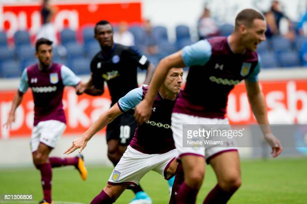 John Terry of Aston Villa during a pre season friendly between MSV Duisburg and Aston Villa at the Heidewaldstadion on July 23 2017 in Duisburg...