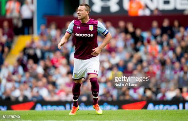 John Terry of Aston Villa during pre season match between Aston Villa and Watford at Villa Park on July 29 2017 in Birmingham England