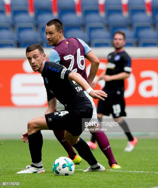 John Terry of Aston Villa during the pre season friendly between MSV Duisburg and Aston Villa at the Heidewaldstadion on July 23 2017 in Duisburg...
