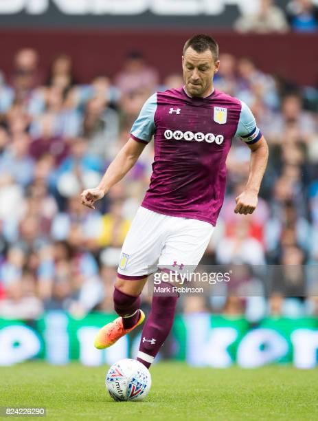 John Terry of Aston Villa during the pre season friendly match between Aston Villa and Watford at Villa Park on July 29 2017 in Birmingham England