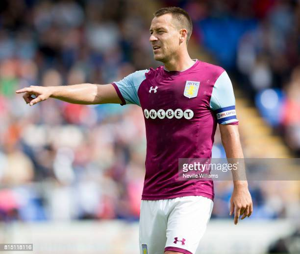 John Terry of Aston Villa during the PreSeason Friendly match between Shrewsbury Town and Aston Villa at the Greenhous Meadow on July 15 2017 in...