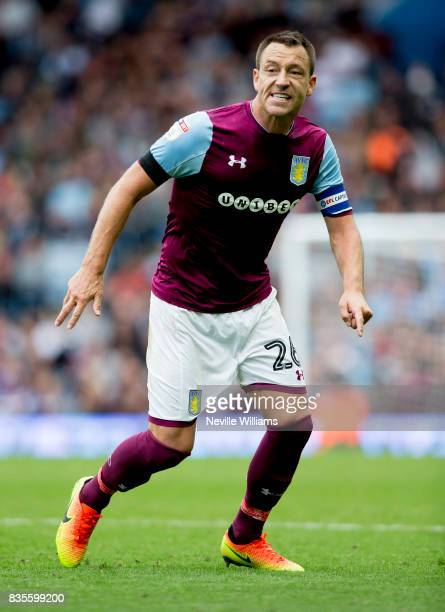 John Terry of Aston Villa during the Sky Bet Championship match between Aston Villa and Norwich City at Villa Park on August 19 2017 in Birmingham...