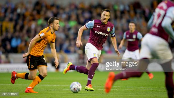 John Terry of Aston Villa during the Sky Bet Championship match between Wolverhampton Wanderers and Aston Villa at the Molineux on October 14 2017 in...