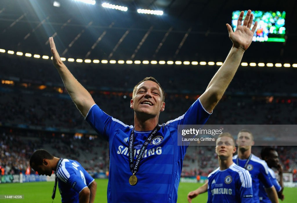 <a gi-track='captionPersonalityLinkClicked' href=/galleries/search?phrase=John+Terry&family=editorial&specificpeople=171535 ng-click='$event.stopPropagation()'>John Terry</a> of Chelsea celebrates after their victory in the UEFA Champions League Final between FC Bayern Muenchen and Chelsea at the Fussball Arena München on May 19, 2012 in Munich, Germany.