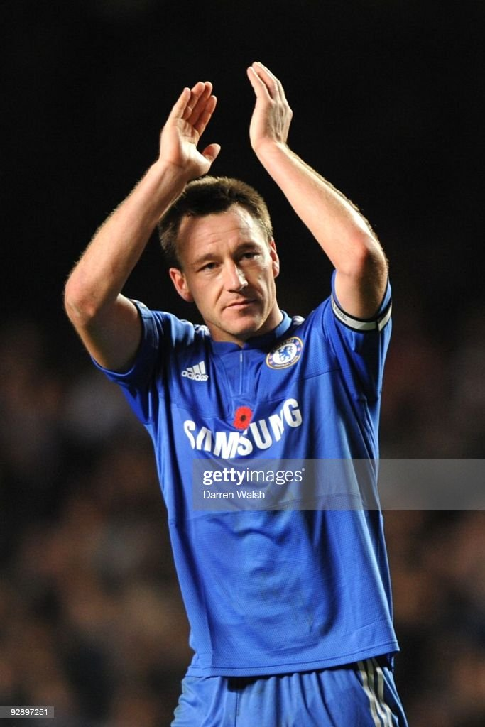 John Terry of Chelsea celebrates victory after the Barclays Premier League match between Chelsea and Mancester United at Stamford Bridge on November 8, 2009 in London, England.